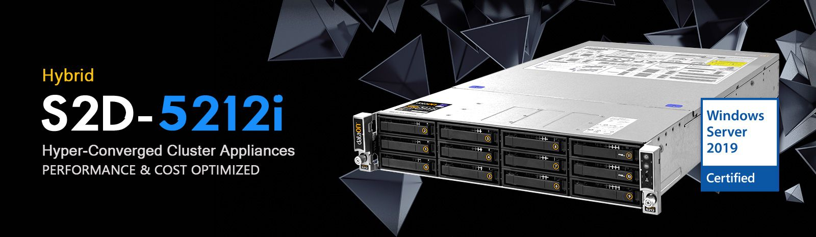 DataON TracSystem S2D-5212i Hyper-Converged Cluster Appliances