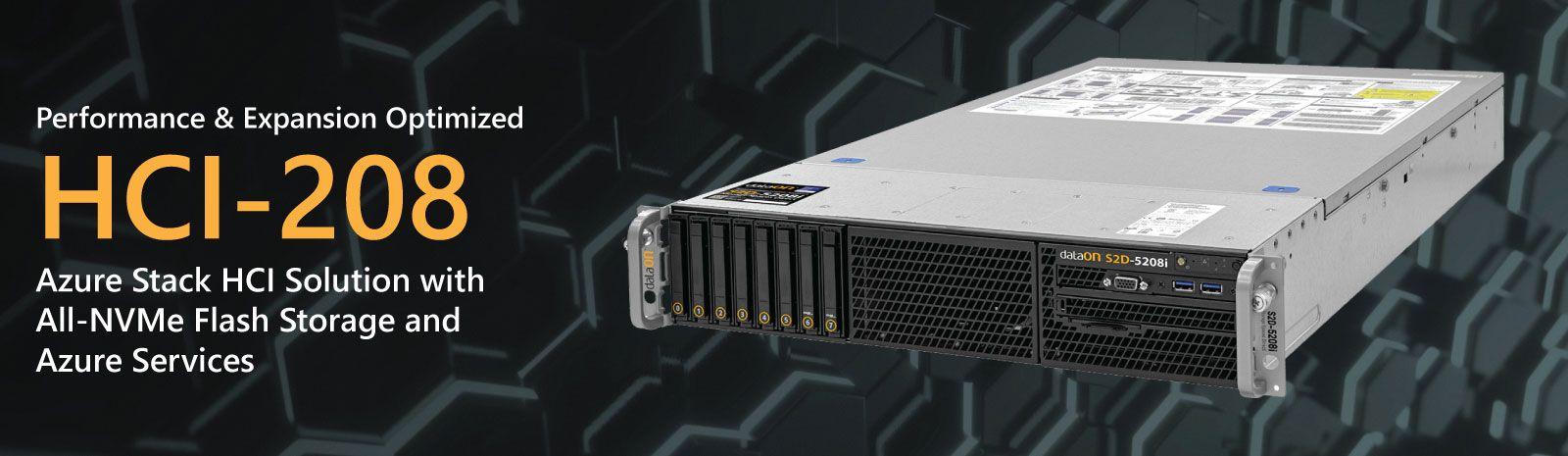 DataON HCI-208: Validated Microsoft Azure Stack HCI Solution